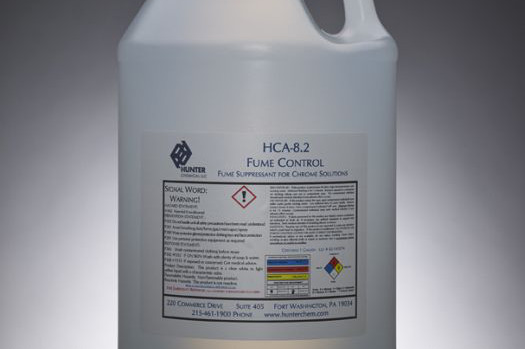 Fume suppressant in a bottle used for chrome plating