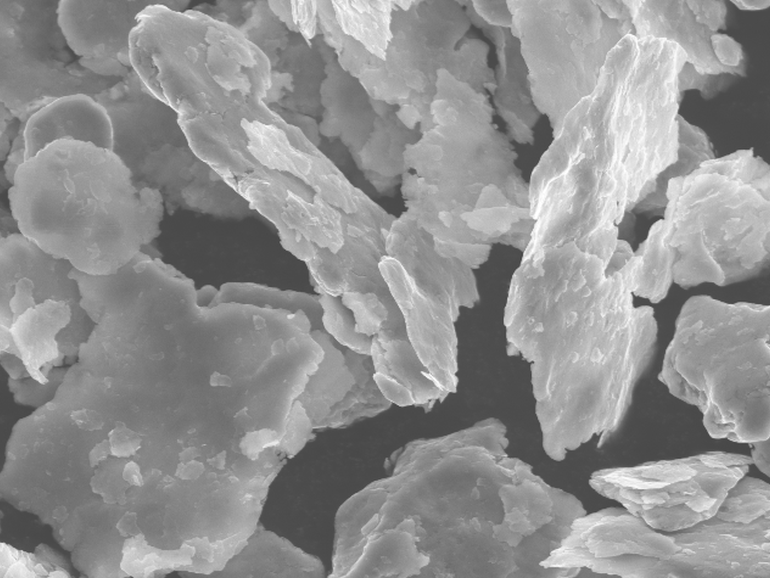 Image of Grade NF50 Nickel Flake magnified 2500 times